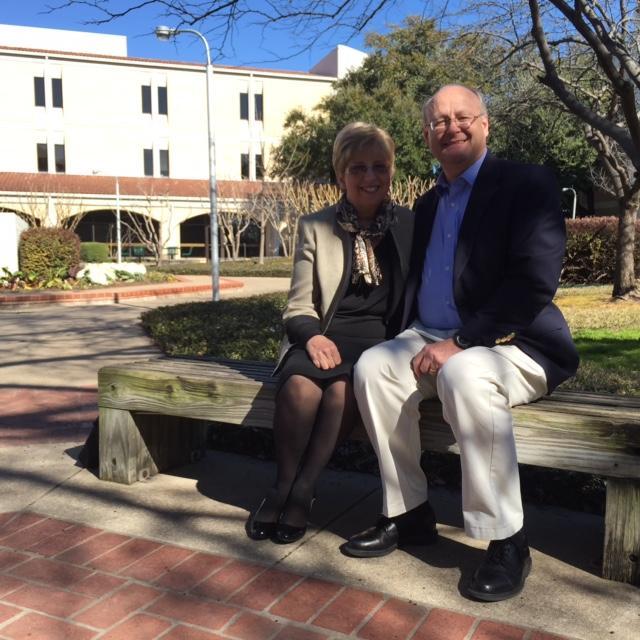 Nancy Writebol and her husband David at the Dallas Theological Seminary.