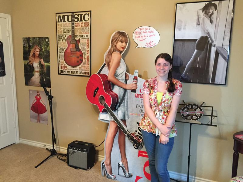 Kaitlynn Curtner, 15, is a big fan of Taylor Swift. Like Swift, Kaitlynn writes her own lyrics and plays the guitar and piano.