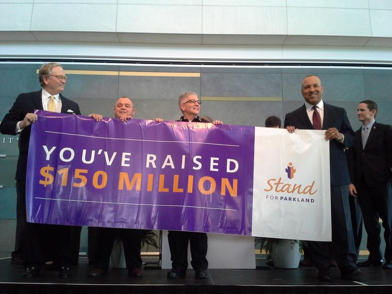 The Parkland Foundation, hospital officials and donors reach the New Parkland fundraising goal ahead of schdule thanks to 12,700 individual donors.