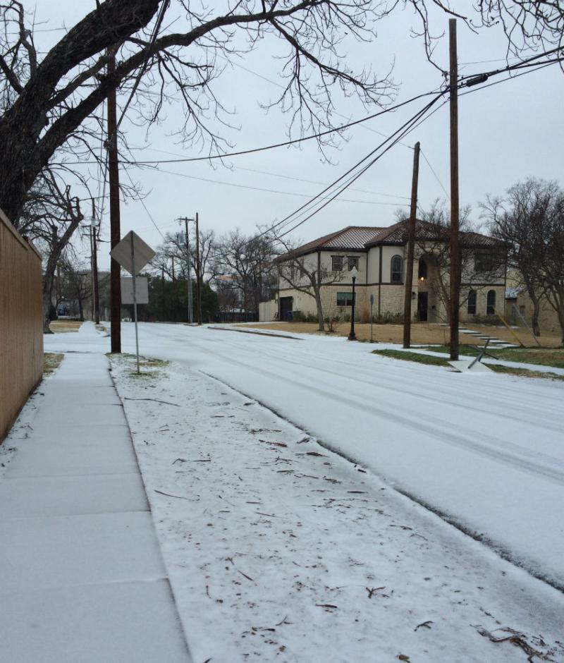 A look at East Dallas Monday morning.