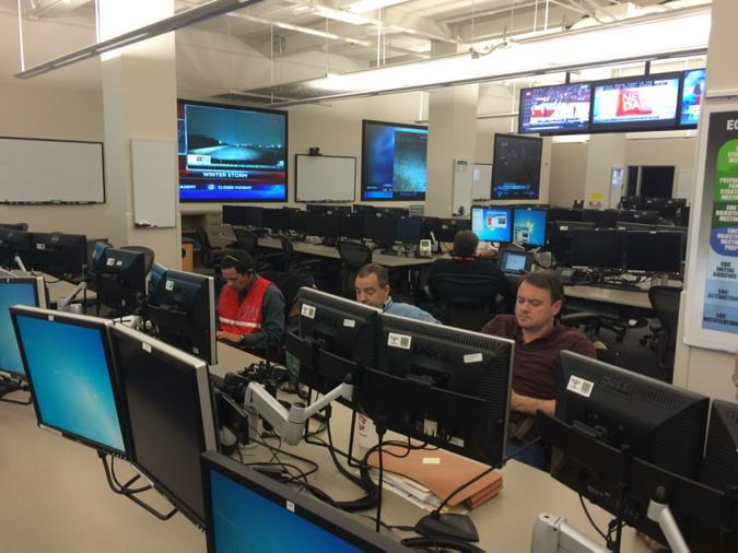Inside the Emergency Operations Center in Fort Worth, as officials coordinate a response to the winter storm.