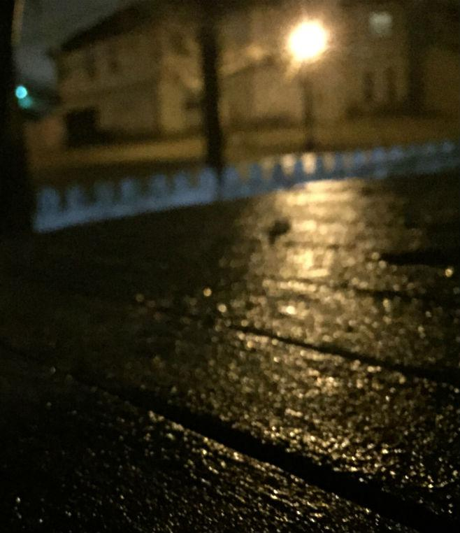 Ice formed in East Dallas starting Sunday night.