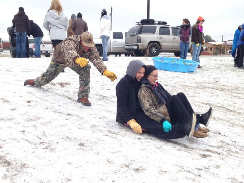 North Texans enjoyed what could be the last bit of winter weather.