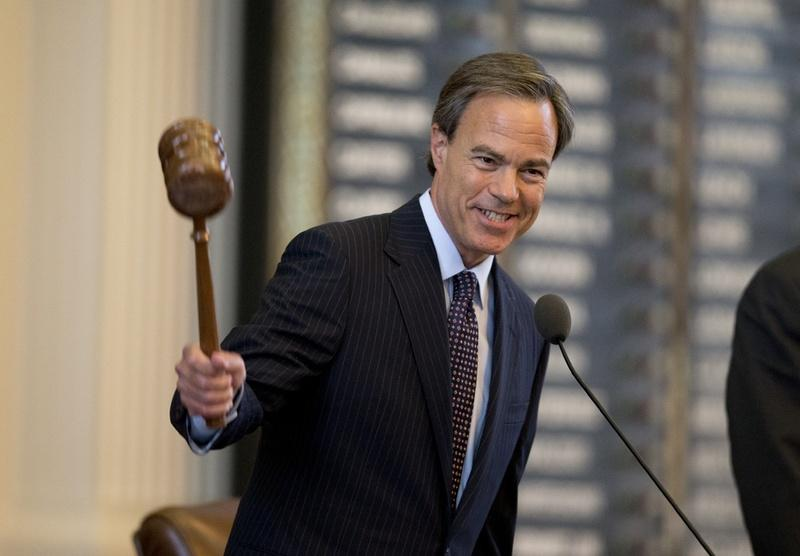 House Speaker Joe Straus gavels out the 83rd Legislative session on May 27, 2013.