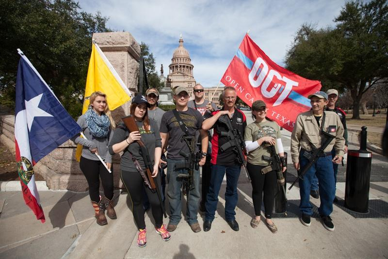 Members of Open Carry Texas were at the state Capitol in late January.