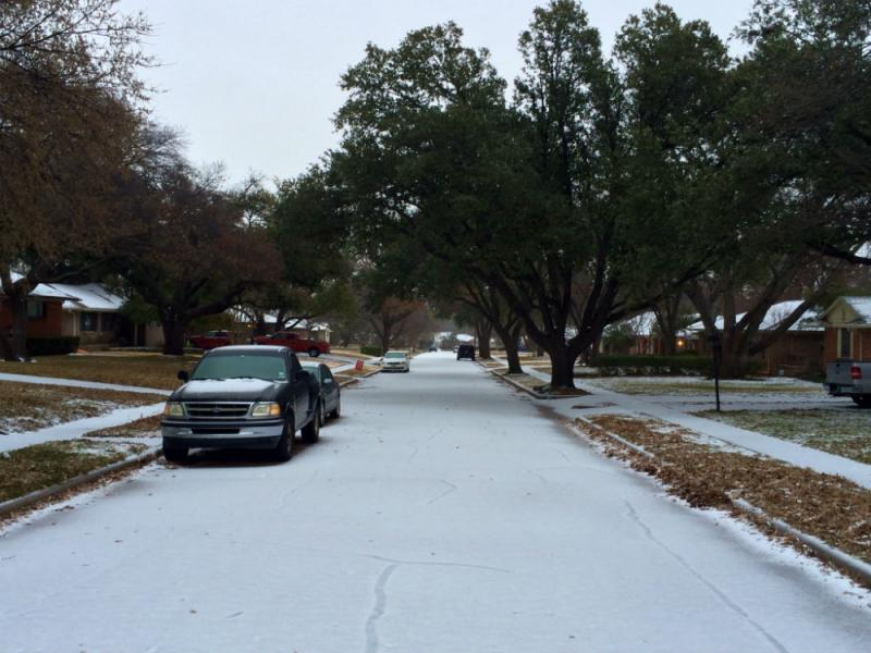 A wintry scene from Richardson.