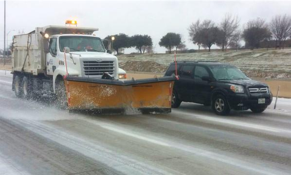 Icy North Texas Freeways