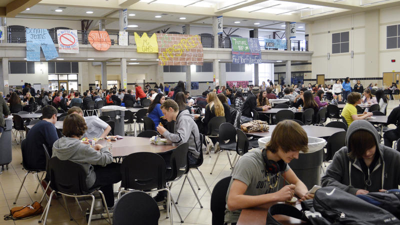 Lunchtime at Guyer High School