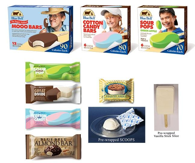 Recalled Blue Bell products