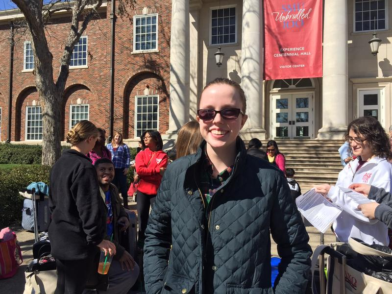 SMU student Caitlin Burke, 21, says it's important for her generation to learn about the Civil Rights Movement and the Selma marches.