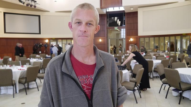 Jeremy Stearns is trying to find permanent housing through the Presbyterian Night Shelter's housing program for vets.