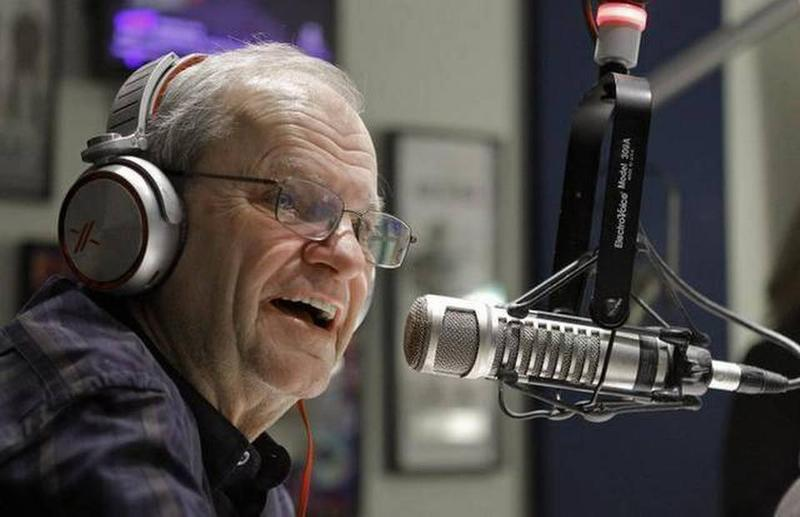 North Texas radio host Terry Dorsey during his last broadcast in December.