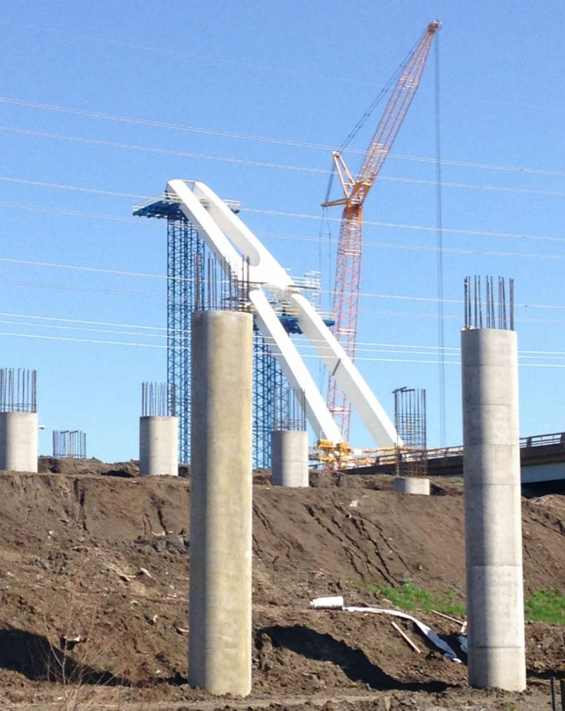 Dallas' newest bridge, the Margaret McDermott Bridge, is beginning to take shape in Dallas.