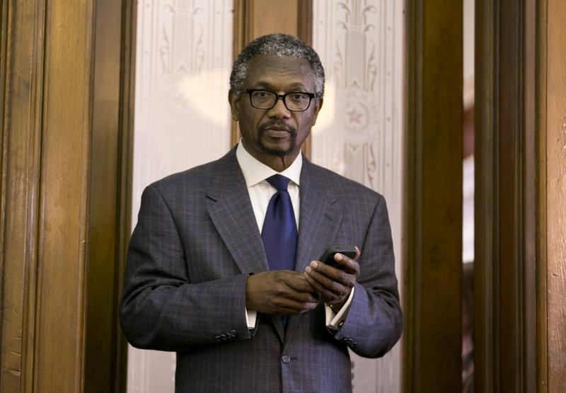 State Rep. Harold Dutton, D-Houston, in the Speaker's Committee Room Democratic caucus in 2013.