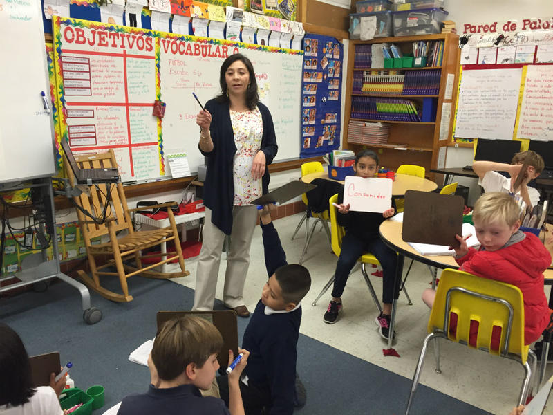 Irma De La Guardia, a third grade teacher at Withers Elementary in Dallas ISD, has been honored as the national bilingual teacher of the year.