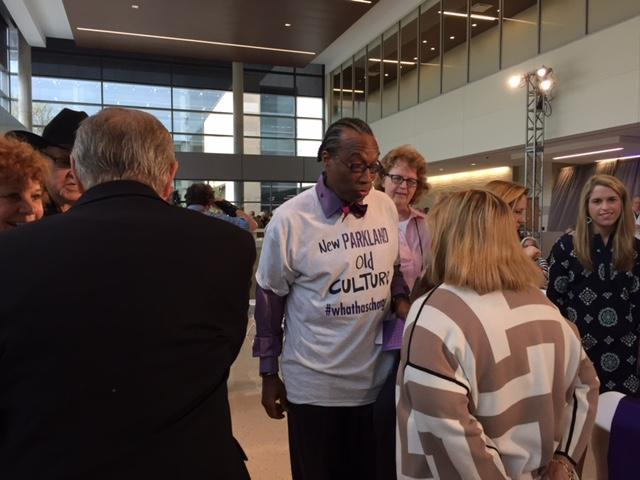 Dallas County commissioner John Wiley Price was among the elected officials at the new Parkland Hospital dedication ceremony Monday.