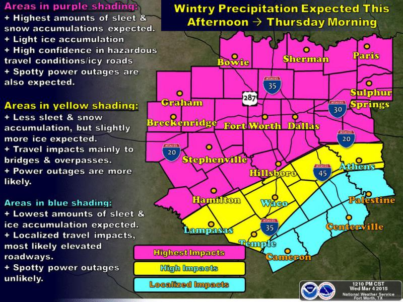 North Texas could see two inches of sleet in this latest winter blast.