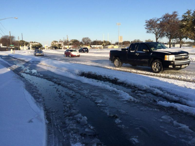Side streets are hazardous across North Texas this morning.