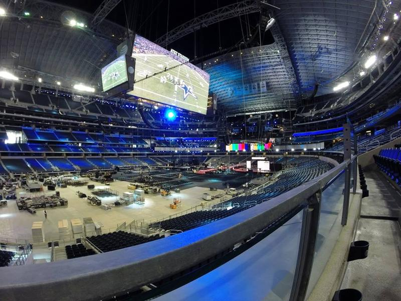 It took about a month to get AT&T Stadium ready for the Academy of Country Music Awards.
