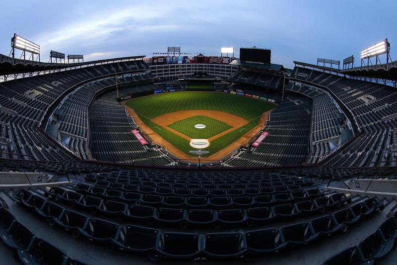 Globe Life Park is getting ready for the Texas Rangers' home opener today. The game starts at 3:05 p.m.