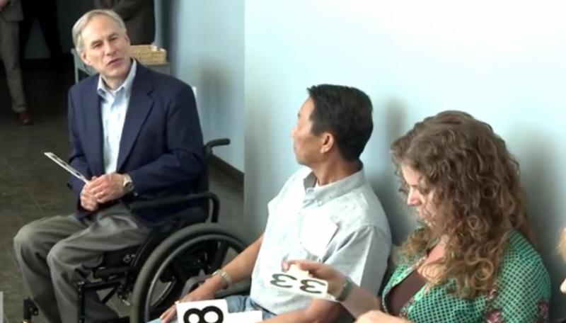 Gov. Greg Abbott showed up for jury duty Monday. He wasn't selected.