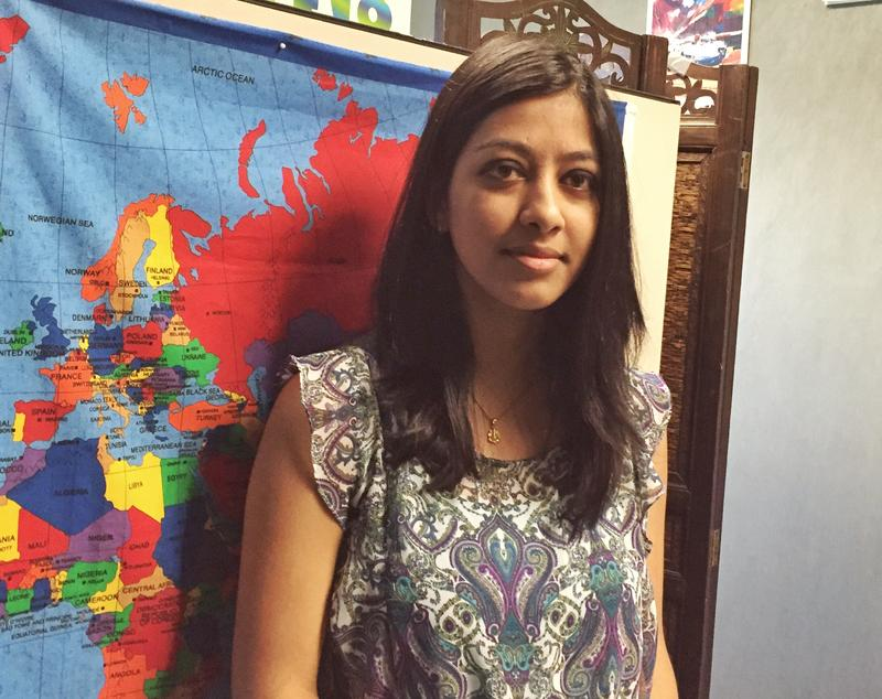 Sachita Bhattrai works at North Lake College's international center. North Lake is home to hundreds of Nepali students.