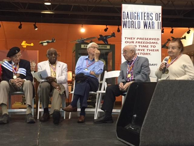 WWII Veterans and Jewish Holocaust Survivors commemorated the 70th Anniversary of U.S. and Allied Armed Forces victory over Nazi Germany at the Frontiers of Flight Museum in Dallas.