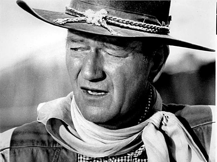 "John Wayne in ""The Comancheros."""
