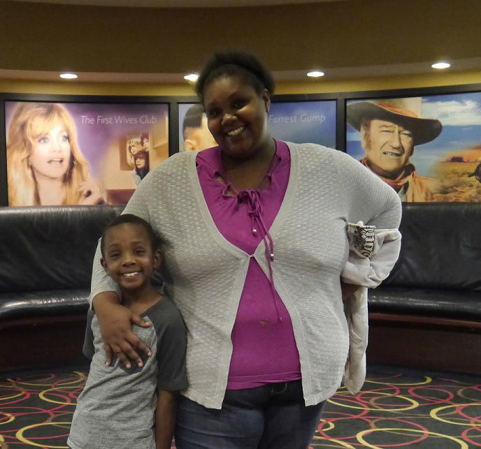 Christie Wade with her 7-year-old son, Lawson.