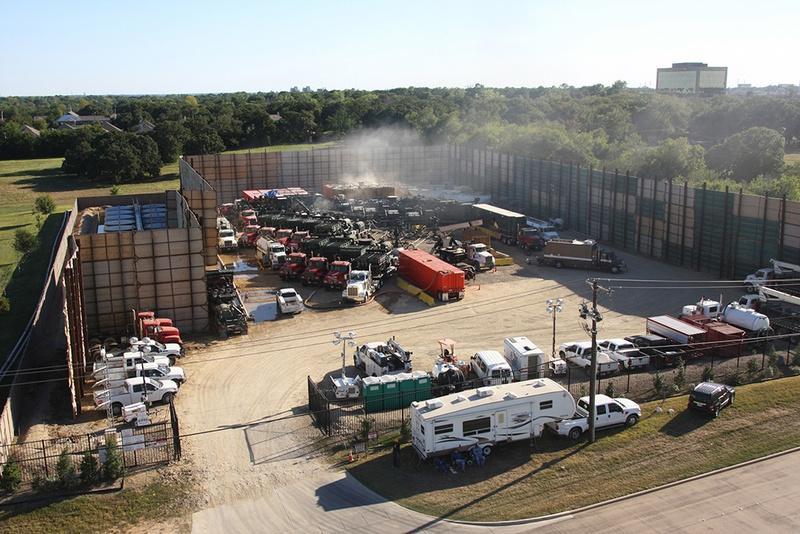 Fracking in Fort Worth in September 2013.
