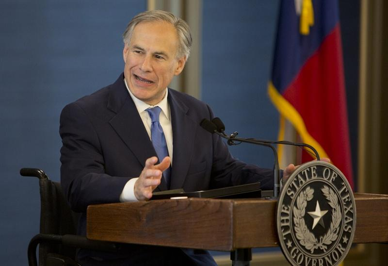 Gov. Greg Abbott speaks during Texas Public Policy Foundation's grand opening of new building on April 21, 2015.