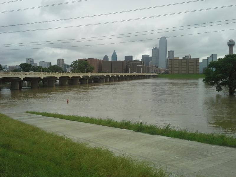 Here's a look at the rain-choked Trinity River in Dallas back in May, which was the wettest May ever for Dallas-Fort Worth.