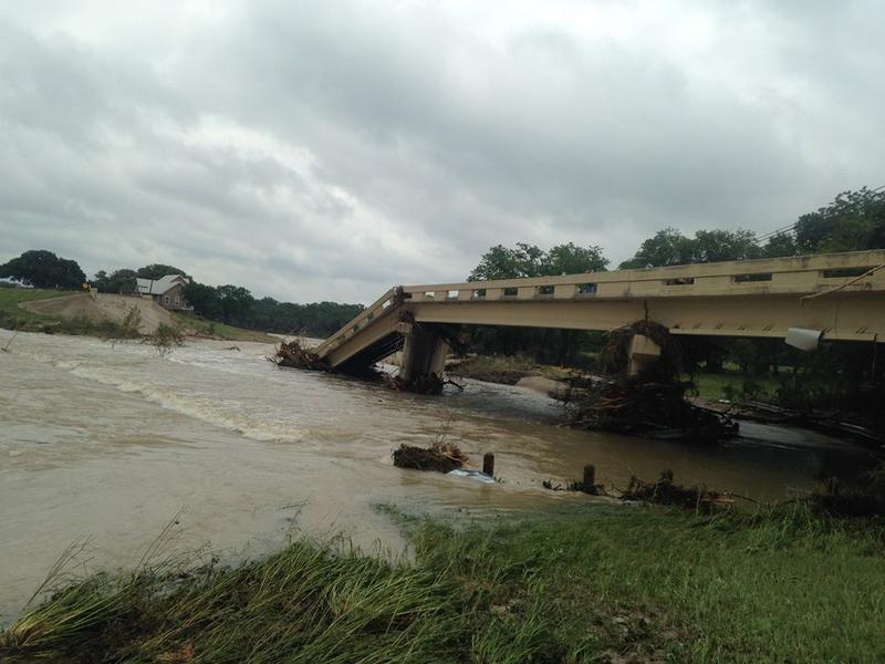 This Central Texas bridge collapsed following heavy rain.