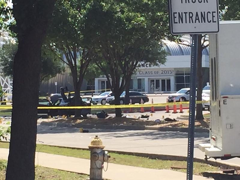 The two gunmen used this car Sunday night outside the cartoon contest in Garland.