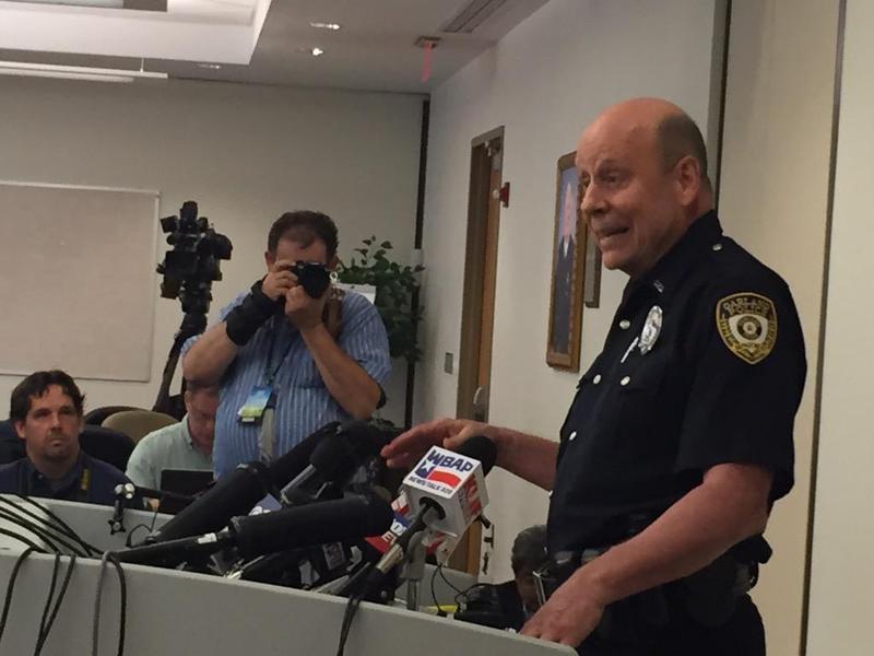 Officer Joe Harn, a Garland police spokesman, addressed reporters Monday morning.