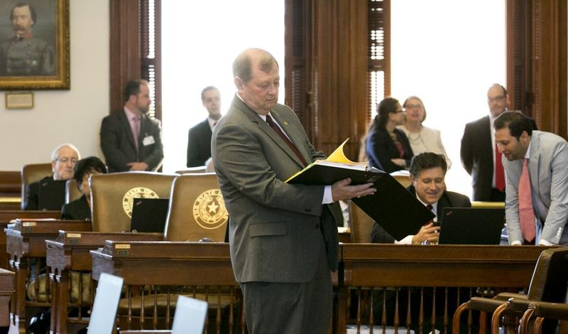 St. Rep. John Otto, R-Dayton, prepares for HB1, the state budget layout. May 29, 2015.