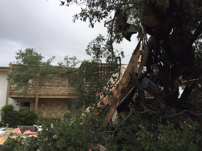 The National Weather Service surveyed damage from a tornado in Runaway Bay.