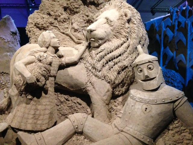 An intricately detailed sculpture at Fantasy in Sand. Some of them stand 20 feet tall.