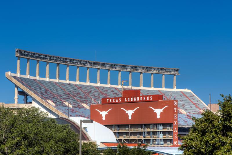 The Darrell K Royal-Texas Memorial Stadium at the University of Texas.