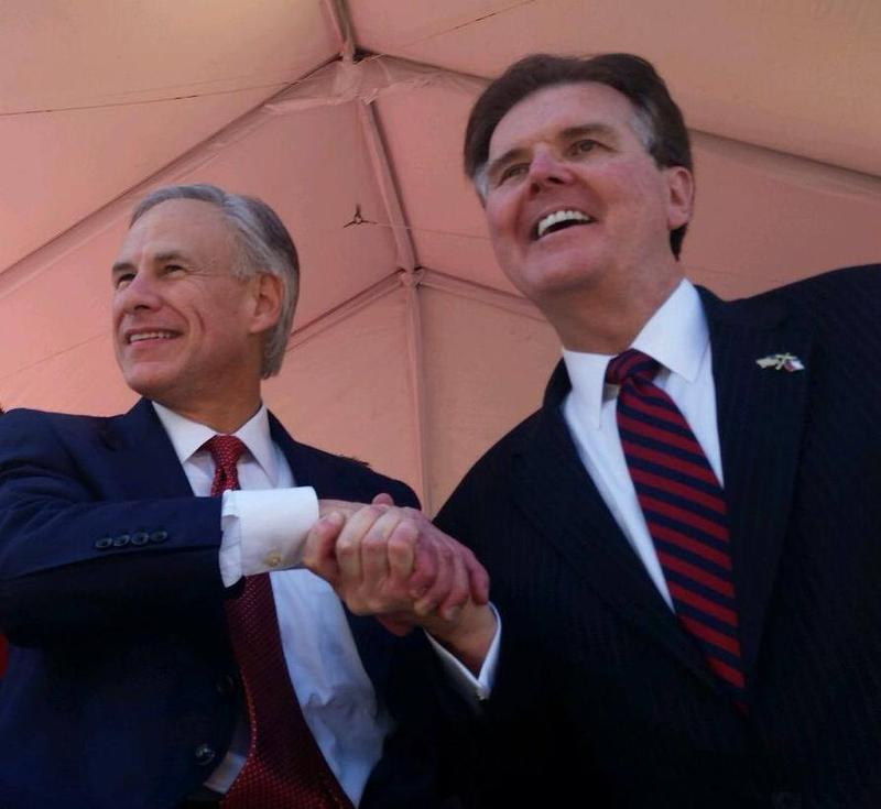 Governor Greg Abbott and Lieutenant Governor Dan Patrick