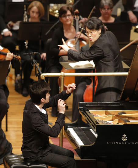 Arseni Mun played his concerto Sunday with the Fort Worth Symphony and Mei-Ann Chen, conductor.