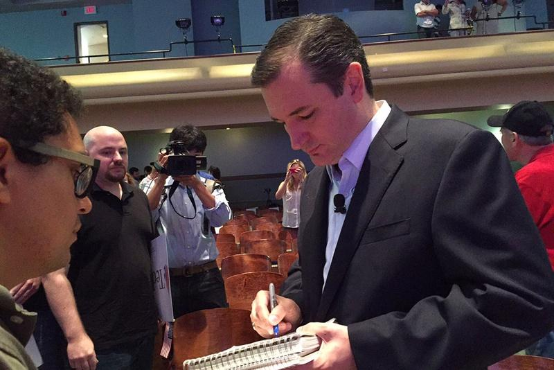 Ted Cruz at Drake University in Des Moines, Iowa, over the weekend.