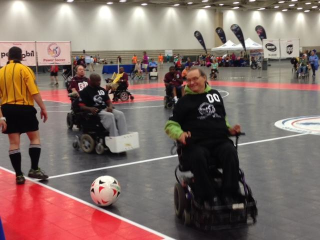 Power soccer competitors.