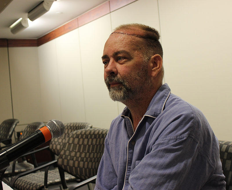 Jim Boysen received the first partial skull and scalp transplant.