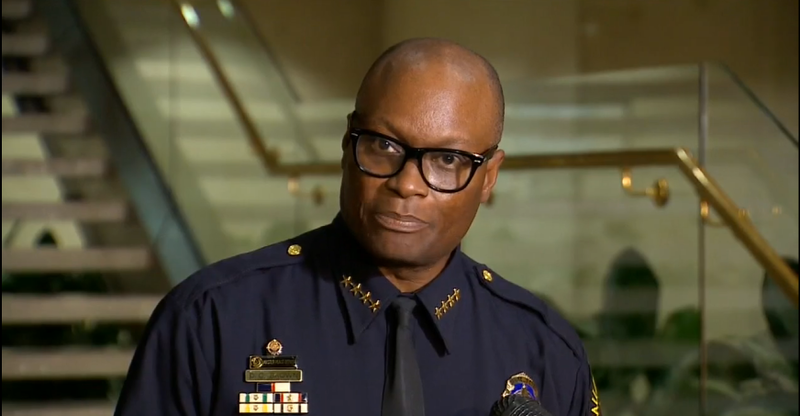 Dallas police chief David Brown in an early morning press conference Saturday.