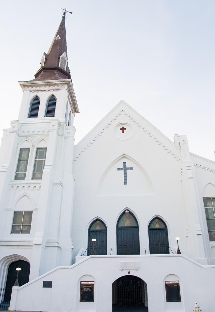 The Emanuel African Methodist Episcopal Church in Charleston, S.C., where nine people were shot and killed this month.