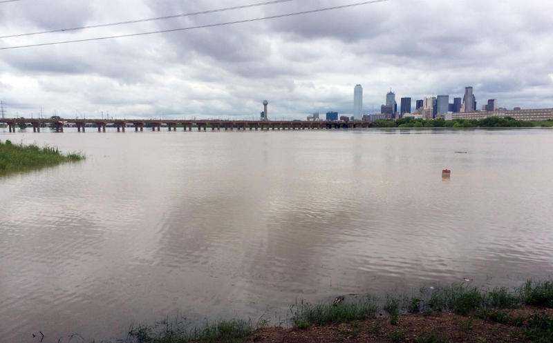 A look at the rain-choked Trinity River in Dallas late last week.