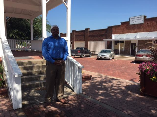 Islamic Association of Collin County Resident Scholar Khalil Abdur-Rashid in downtown Farmersville.