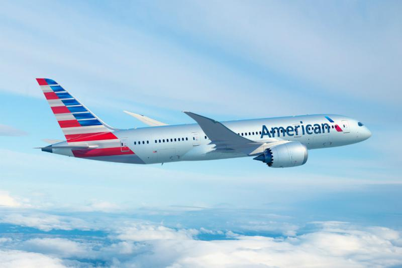 American's Boeing 787 aloft with its new logo. About a year and a half after bankruptcy, and after the merger with US Airways, the carrier earned more in a quarter than any airline in aviation history