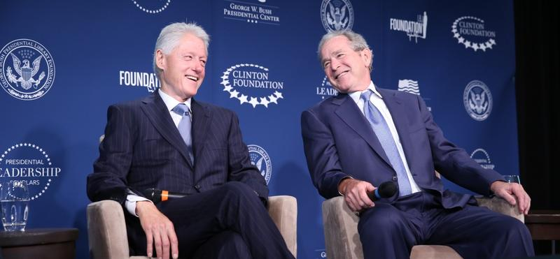 Former Presidents Bill Clinton and George W. Bush have worked and appeared together for the past few years in conjunction with the Presidential Leadership Scholars.